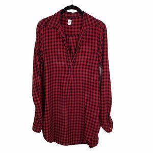 GAP Plaid Long Sleeve Tunic Dress Small Tall